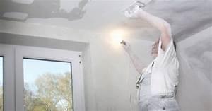 Enduire Toile De Verre : poser de la toile de verre au plafond marie claire ~ Dailycaller-alerts.com Idées de Décoration