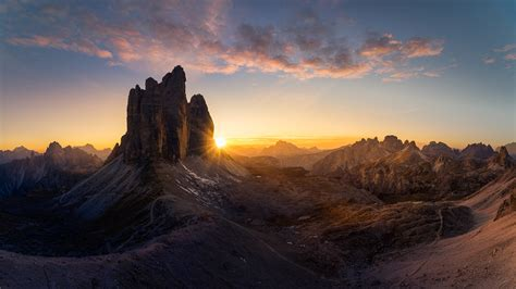 dolomites italy poster majestic  peaks tre cime