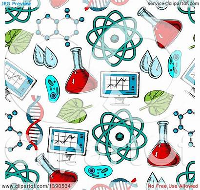 Science Background Vector Seamless Pattern Items Clipart