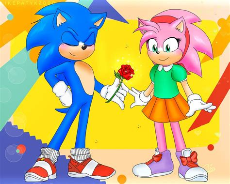 sonic   amy rose  likepatyk