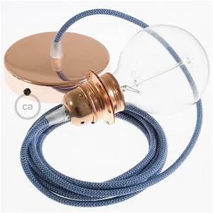 Cable Pour Suspension : lampe suspension pour abat jour c ble textile zigzag bleu steward rd75 ~ Teatrodelosmanantiales.com Idées de Décoration