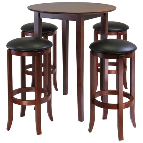 small round pub table winsome fiona 5 pc square pub table set 196926