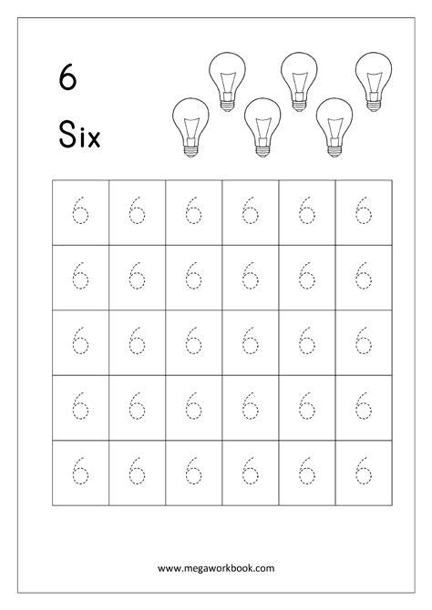 number 6 tracing worksheet www pixshark images