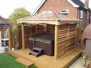 image of square hot tub gazebo spa pinterest With whirlpool garten mit kleiner pavillon balkon