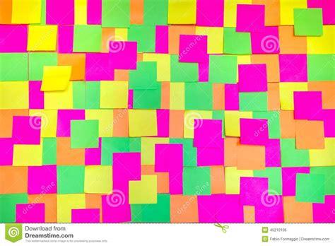 bureau post it colored post it notes background stock illustration