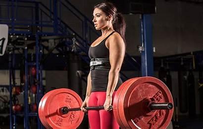 Powerlifting Deadlift Training Female Weight Bodybuilding Fitness