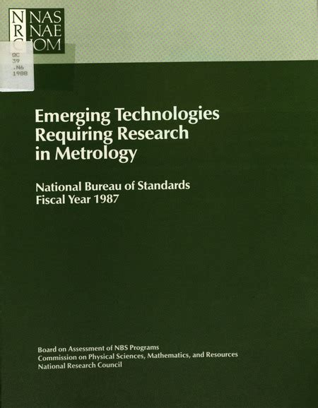 national bureau of standards emerging technologies requiring research in metrology