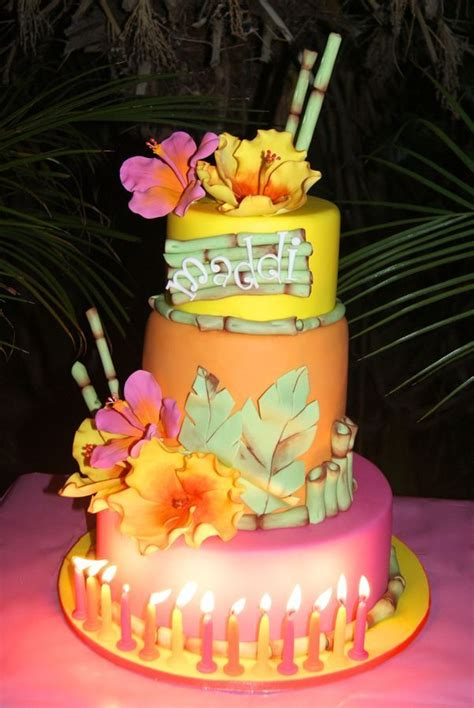 86 Best Luau Cakes Images On Pinterest  Luau Appetizers