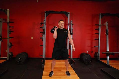 clean jerk kettlebell arm exercise sequences enlarge