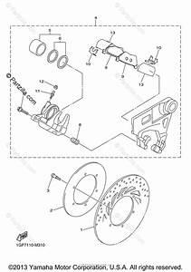 Yamaha Motorcycle 2013 Oem Parts Diagram For Rear Brake