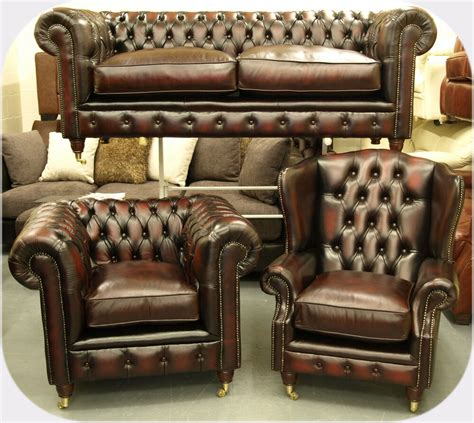 Chesterfield Leather Sofa Sale chesterfield leather suite chair sofa brand new sale ebay