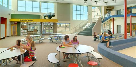 contemporary dinning rooms summit elementary rb b architects