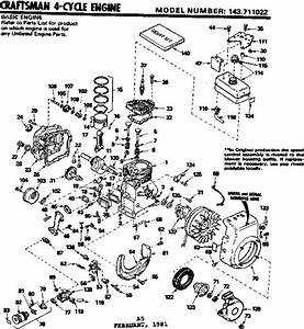 Looking For Craftsman Model 143711022 Lawn  U0026 Garden Engine Repair  U0026 Replacement Parts