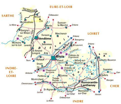 carte plan du departement loir et cher 41