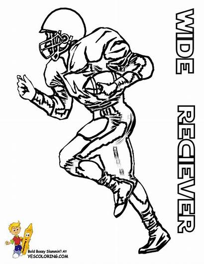 Coloring Football Player Pages American Sheets Wide