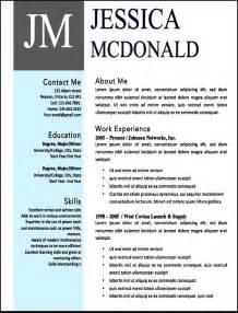 modern resume template microsoft word free modern resume templates microsoft word free sles