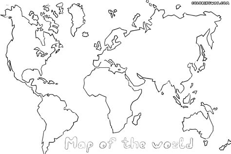 coloring page map   world printable world map