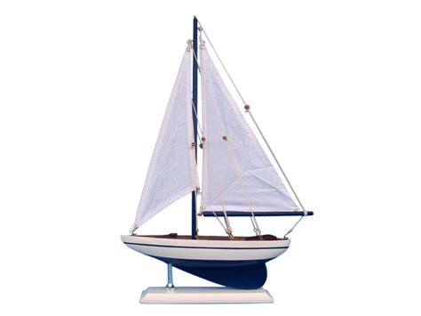 buy wooden blue pacific sailer model sailboat decoration 17 inch