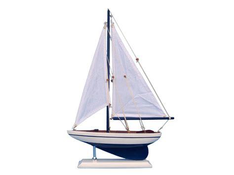 buy wooden blue pacific sailer model sailboat decoration