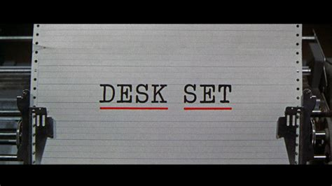 Desk Set Cast by Desk Set 1957 Journeys In Classic