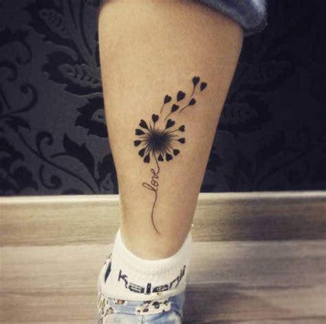 nice dandelion birds tattoos