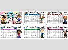 Calendario 2018 EDITABLE trabajamos las emociones