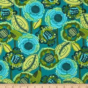 Amy Butler Bright Heart Coco Bloom Pine - Discount