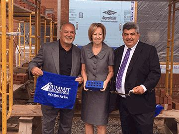 summit celebrates construction   branch ny daily record