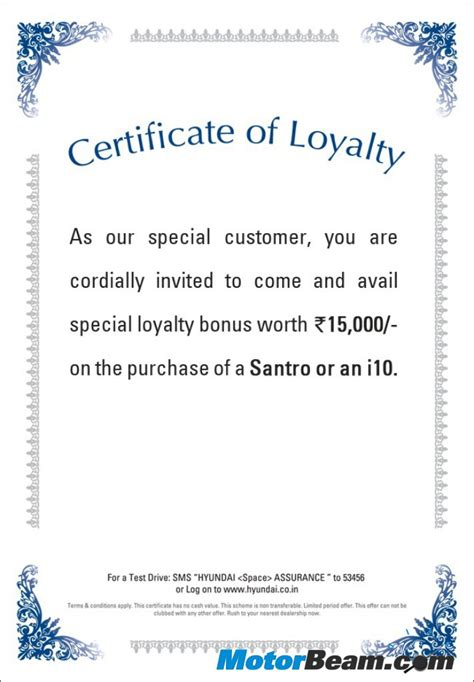 loyalty award certificate examples  examples