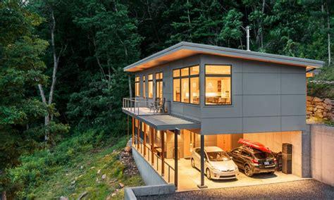 hillside cabin plans hillside house plans with garage underneath cost of