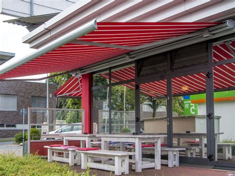 commercial retractable awnings cassette awnings  commercial