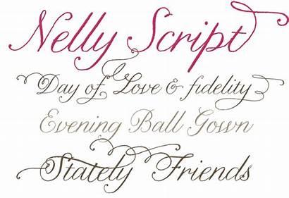 Script Fonts Nelly Font Calligraphy Fancy Letters