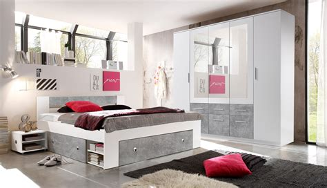 Weißes Schlafzimmer Komplett by Schlafzimmer Komplett Set 4 Tlg Stefan Bett 180