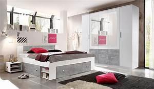 Kleiderschrank Weiß Grau : schlafzimmer komplett set 4 tlg stefan bett 180 kleiderschrank wei beton ebay ~ Buech-reservation.com Haus und Dekorationen