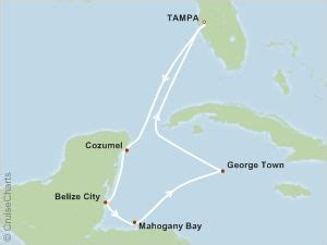 carnival legend 7 western caribbean cruise itinerary details at travelocity honeymoon