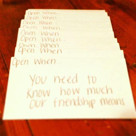 open  letters   friend ideas