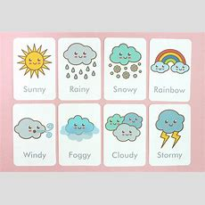 Free Printable Weather Flash Cards