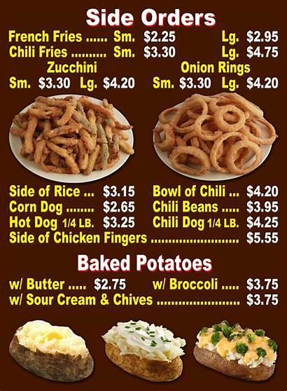 Menu Side Orders Prices