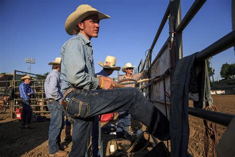 high school rodeo competitors ride  illinois state