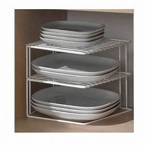 Assiette Noire Ikea : porte assiette 3 niveaux blanc achat vente range assiette porte assiette 3 niveaux cdiscount ~ Teatrodelosmanantiales.com Idées de Décoration