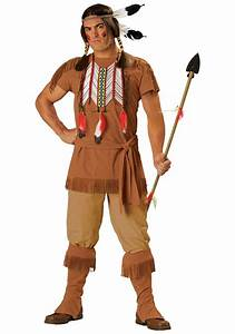 Mens Native American Brave Costume - Adult Indian Warrior Costume
