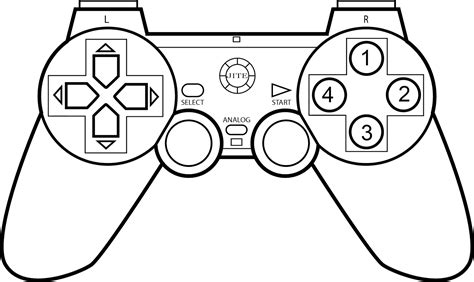 gallery video games controller drawing