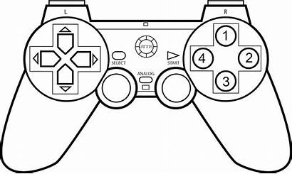 Controller Coloring Xbox Games Pages Clipart Drawing