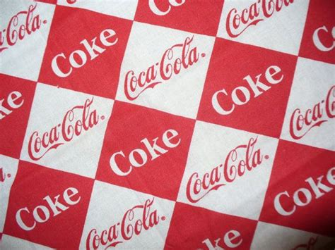 Coca Cola Fabric / Remnant / Oop