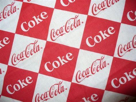 Coca Cola Fabric / Remnant / OOP   Coca Cola Material