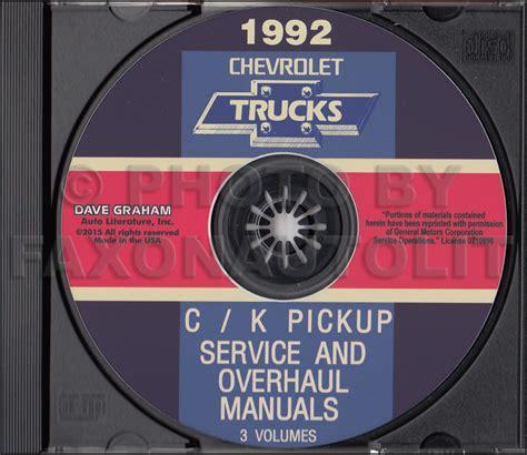 download car manuals pdf free 1992 chevrolet s10 engine control 1992 chevy c k pickup suburban blazer wiring diagram manual original