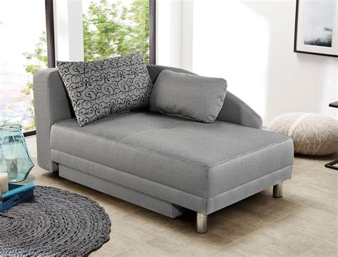 Recamiere Rocco 149x90 Grau Ottomane Schlafsofa Couch
