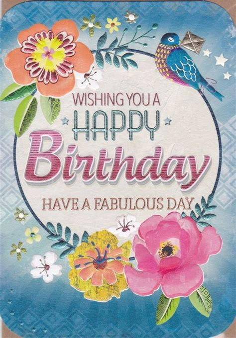 Birthday Card Image by Floral A Fabulous Day Birthday Card Karenza Paperie