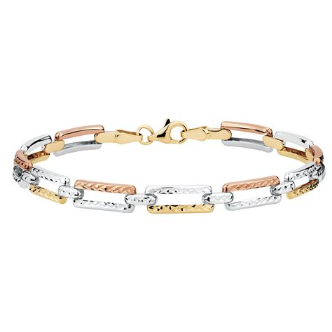 "19cm (75"") Bracelet In 10ct Yellow, White & Rose Gold. Best Beads For Jewelry Making. Leaf Stud Earrings. Big Gold Bracelet. Designer Brooch. Popular Gold Bangle Bracelet. Silver Diamond Bangle Bracelet. Egg Pendant. 10 Sterling Silver Ankle Bracelets"