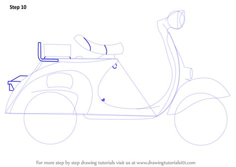 Step By Step How To Draw A Scooter